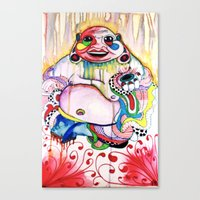 buddah Canvas Prints featuring Buddah by TomDaly