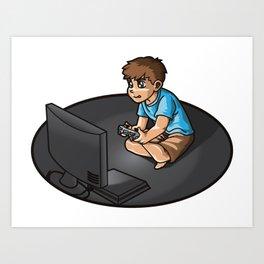 Gaming Life - Video Games Gamer Clan Playing Fun Art Print