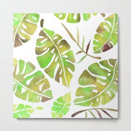 Tropic Fever —Greenery Version Metal Print