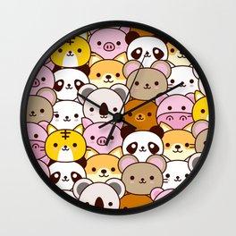 Cute baby animals  Wall Clock