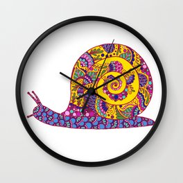 Colorful Snail Wall Clock