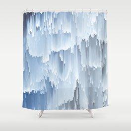 Waterfall glitch Shower Curtain