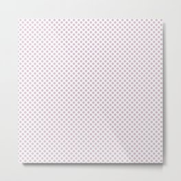 Winsome Orchid Polka Dots Metal Print