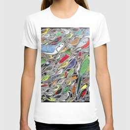Toucans, parrots and tropical birds of Costa Rica T-shirt