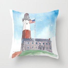 Montauk Lighthouse Long Island New York Deko-Kissen