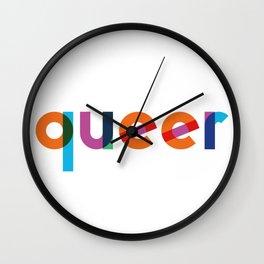 Queer design LGBTIQ community Wall Clock