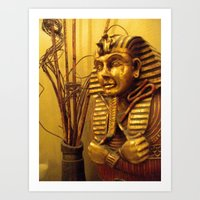 egyptian Art Prints featuring Egyptian by Clinically Moi