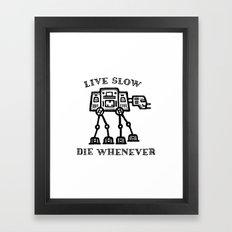 Live Slow Framed Art Print