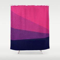 Stripe VII Ultraviolet Shower Curtain
