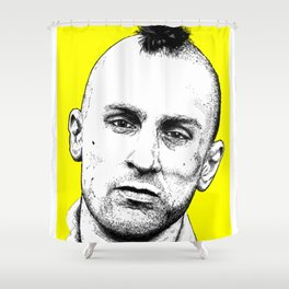 Taxi Driver Travis Bickle Block Series Shower Curtain