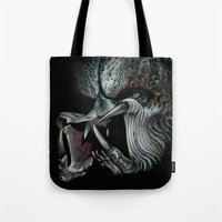 predator Tote Bags featuring Predator by Shannon Laing