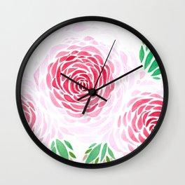 las tres rosas Wall Clock