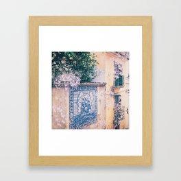 Lemon Trees and Tiles Framed Art Print