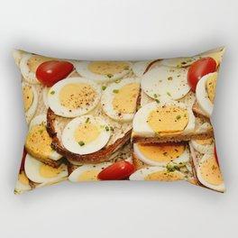 Egg Sandwich Rectangular Pillow