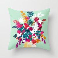 blush Throw Pillows featuring Blush by Picomodi