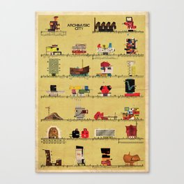 archimusic city Canvas Print