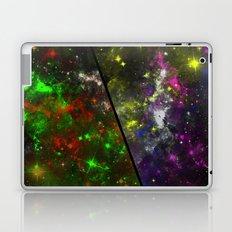 Parallel Universe - Split 'space' artwork showing 2 opposing galaxies Laptop & iPad Skin