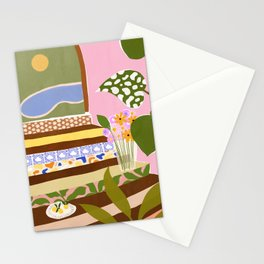 Swimming Pool Stationery Cards