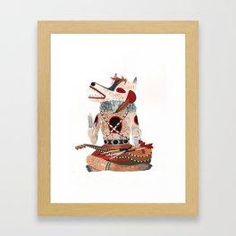 Sitting Wolf Framed Art Print