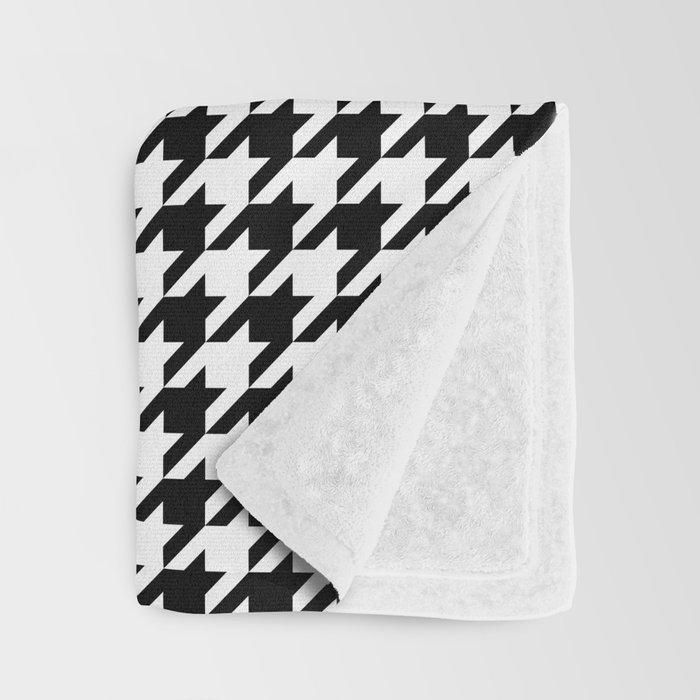 Monochrome Black White Houndstooth Throw Blanket By Textures Awesome Black And White Houndstooth Throw Blanket