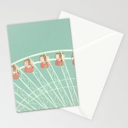 Mint and pink nursery ferris wheel Stationery Cards