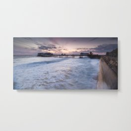 High Tide Cromer Seafront Metal Print