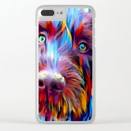 German Wirehaired Pointer Clear iPhone Case