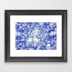 Blue sky and snow. Framed Art Print
