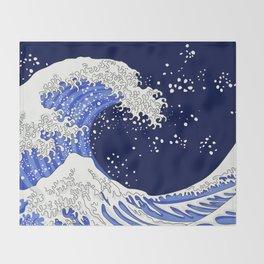 Great Blue Wave Throw Blanket
