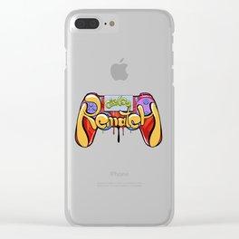 dualshock 4 playstation 4 graffiti Clear iPhone Case