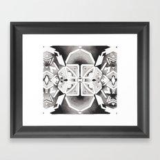 Star Chart Kaleidoscope Framed Art Print