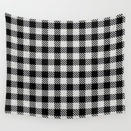 Misty Rose  Bison Plaid Wall Tapestry