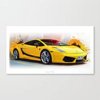 lamborghini Canvas Prints featuring Lamborghini Superleggera by Urbex :: Siam