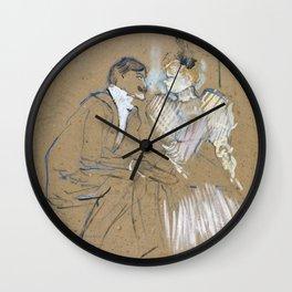 """Henri de Toulouse-Lautrec """"Lucien Guitry et Jeanne Grânier"""" Wall Clock"""
