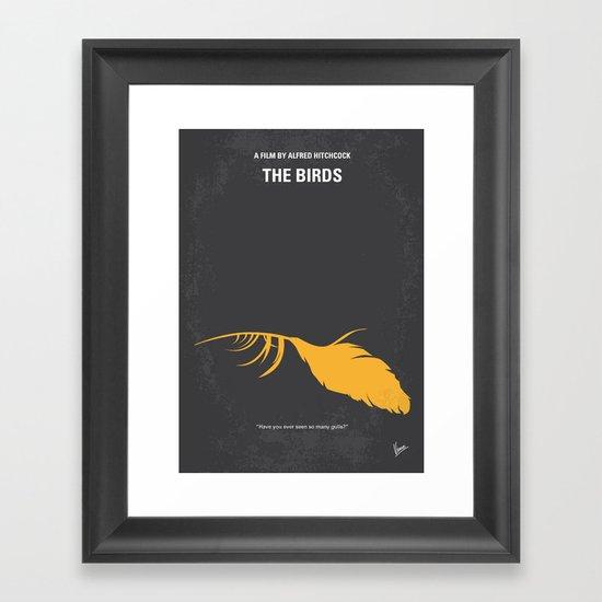 No110 My Birds minimal movie poster Framed Art Print