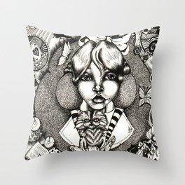 Alice Dreams Throw Pillow