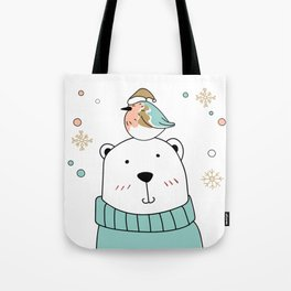POLAR BIRD Tote Bag