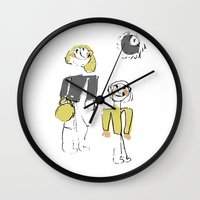 shopping Wall Clocks featuring shopping by Josephine Walz