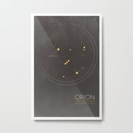 Orion Constellation - The Hunter Metal Print