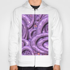 Glossy 3 Pattern lilac Hoody