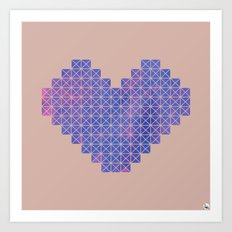 Heart X Purple Art Print