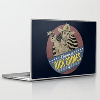 rick grimes Laptop & iPad Skins featuring I Believe in Rick Grimes by HuckBlade