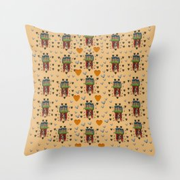 Sankta Lucia with love and candles in the silent night Throw Pillow