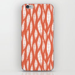 Quail Feathers (Poppy) iPhone Skin