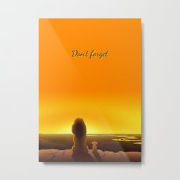 Lion Film Metal Print