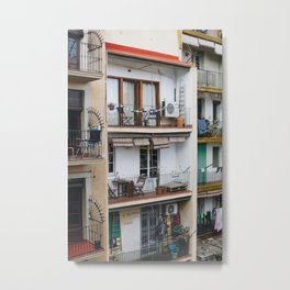 Apartment Balconies in Barcelona Metal Print