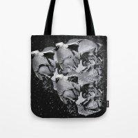 skulls Tote Bags featuring Skulls by Mrs Araneae