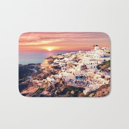 Santorini Sunset View Bath Mat