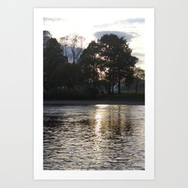 Sunset over River Ness Inverness Art Print