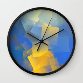 Cubism Abstract 198 Wall Clock
